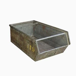 Mid-Century Lager-Fix Industrial Metal Box from Schäfer