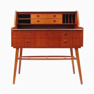 Kleiner Dänischer Teak Schreibtisch, 1960er