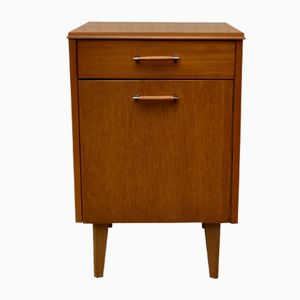 Mid-Century Bedside Table with Drawer from Lebus