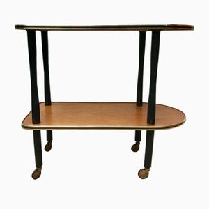 Vintage Wood & Glass Drinks Trolley