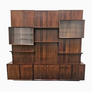 Vintage Danish Rosewood Modular Wall System by Poul Cadovius for Cado