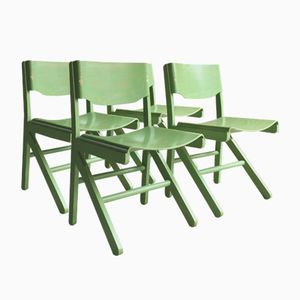 Französische Mid-Century Esszimmerstühle von Joamin Baumann für Baumann, 4er Set
