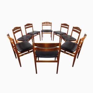 Dänische Mid-Century Teak Esszimmerstühle von Boltinge Stolefabrik, 8er Set