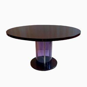 Mid-Century Italian Plexiglas & Rosewood Dining Table