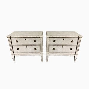 Antique Swedish Chests of Drawers, Set of 2