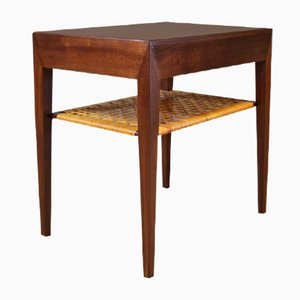 oak and teak sewing table by hans j wegner for andreas. Black Bedroom Furniture Sets. Home Design Ideas