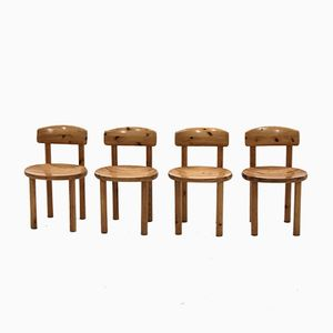 Kiefernholz Esszimmerstühle von Rainer Daumiller für Hirtshal Sawmill, 1970er