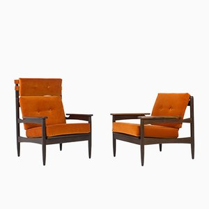 Danish Organic Mid-Century Modern Lounge Chairs by LIFA, 1960s, Set of 2