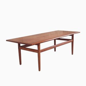 Mid-Century Teak Coffee Table with Bevelled Edges, 1960s