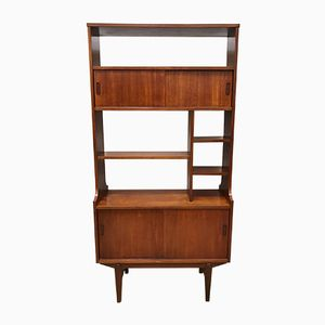 Vintage Teak Room Divider and Bookshelf