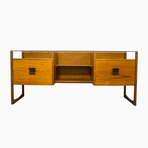 Mid-Century Danish Teak Glass Topped Desk from G-Plan