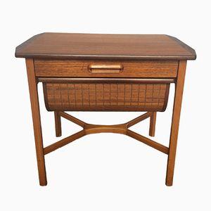 Mid-Century Teak Sewing Work Box Table, 1960s
