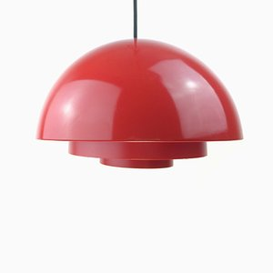 Danish Red Milieu Pendant by Jo Hammerborg for Fog & Mørup, 1970s