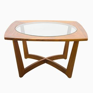 Vintage Danish Teak and Glass Coffee Table