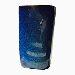 Blaue Vintage Keramik Vase von Sven Jonson für Gustavsberg, 1960er