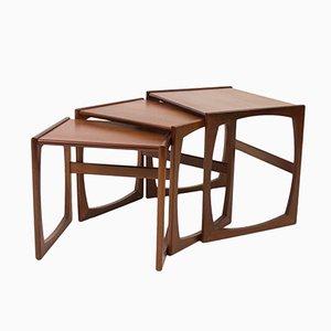 Vintage Quadrille Teak Nest of Tables by R. Bennett for G-Plan