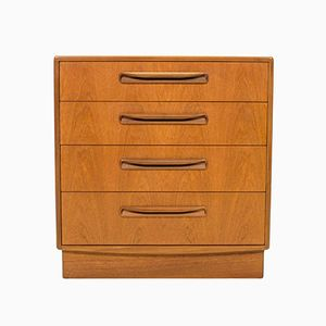 Vintage Fresco Teak Four-Drawer Chest of Drawers by Victor Wilkins for G-Plan