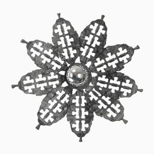 Brutalist Flower-Shaped Ceiling Light