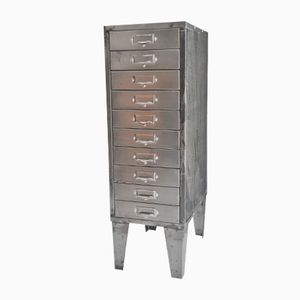 Vintage Metal Cabinet with Drawers