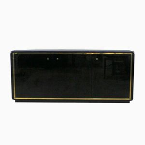 Black Lacquered Sideboard, 1970s