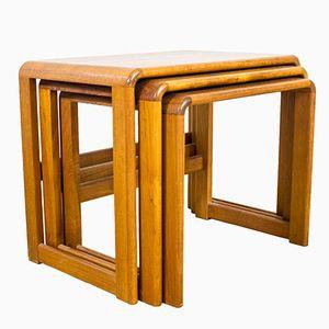 Mid-Century Teak Nesting Coffee Tables from Beithcraft