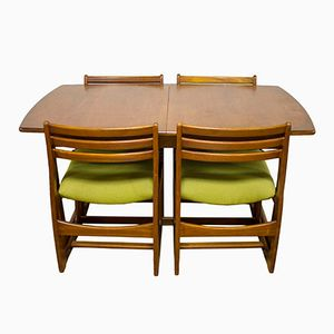 Mid-Century Teak Dining Table and Four Chairs from Portwood Furniture