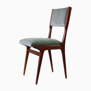 Italian Walnut Chairs, 1950s, Set of 2