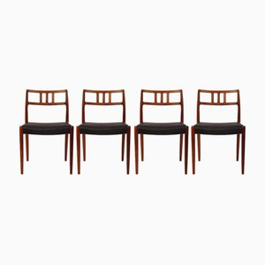 Vintage Model 79 Chairs by Niels O. Moller, Set of 4