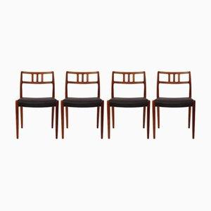 Vintage Modell 79 Stühle von Niels O. Moller, 4er Set
