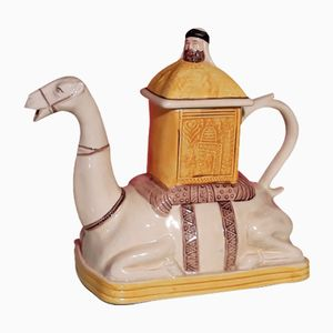 Sheikh on Camel English Teapot by Tony Wood, 1990s