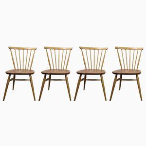 Geschwungene Windsor Stühle von Lucian Ercolani für Ercol, 1960er, 4er Set