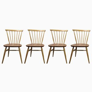 Windsor Bow Top Chairs by Lucian Ercolani for Ercol, 1960s, Set of 4