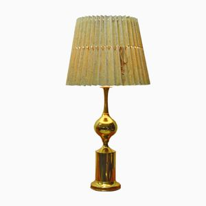 Swedish Brass Table Lamp, 1970s
