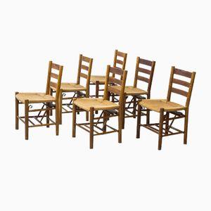Kirchenstühle von Viggo Hardie-Fischer für Sorø Stolefabrik, 1950er, 6er Set