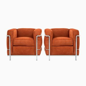 Vintage LC2 Armchairs by Le Corbusier for Cassina, Set of 2