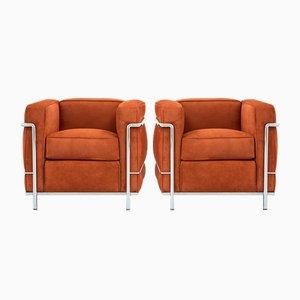 Vintage LC2 Sessel von Le Corbusier für Cassina, 2er Set