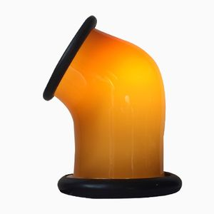 Epoke 1 Amber Glass Lamp by Michael Bang for Holmegaard, 1970s