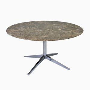 Mid-Century Round Marble Table by Florence Knoll for Knoll International