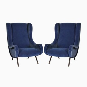 Vintage Senior Chairs by Marco Zanuso for Arflex, Set of 2