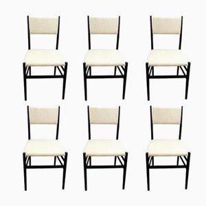 Leggera Stühle von Giò Ponti für Cassina, 1955, 6er Set