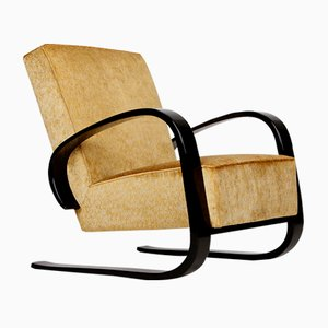 Freischwinger Sessel von Miroslav Navratil für Spojene UP Zavody, 1950er