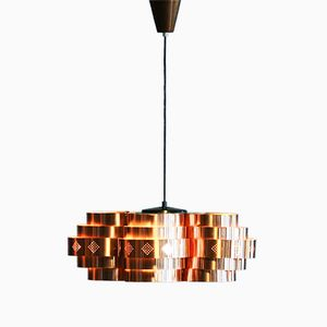 Copper Pendant by Werner Schou for Coronell Elektro, 1960s
