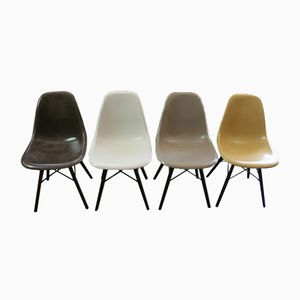 DSW Fiberglass Chairs by Charles & Ray Eames for Herman Miller, 1960s, Set of 4