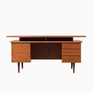 Cubic Teak Veneered Desk, 1960s