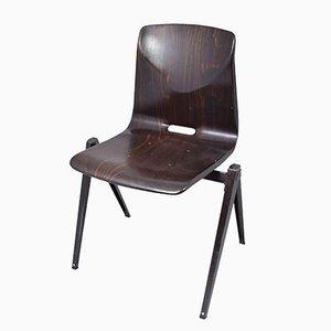 Schwarzer S22 Stuhl von Galvanitas, 1967