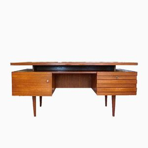 German Freestanding Teak Executive Desk from Leo Bub Wertmöbel, 1960s
