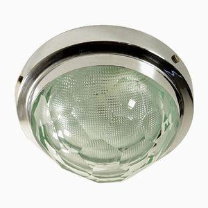 Chromed Metal & Glass Lamp, 1960s