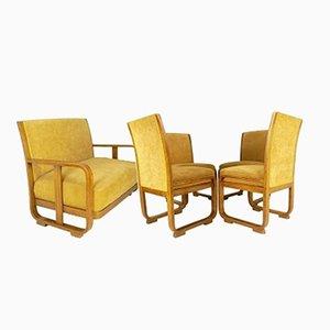 4 Sessel und Sofa von Stefan Sienicki für Thonet, 1930er