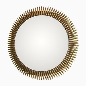 Large Bullet Sunburst Wall Mirror, 1950s
