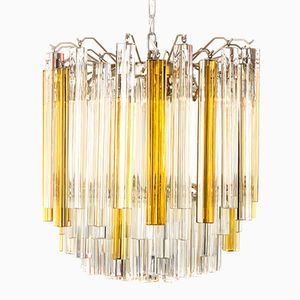 Triedi Murano Glass Chandelier by Paolo Venini, 1960s